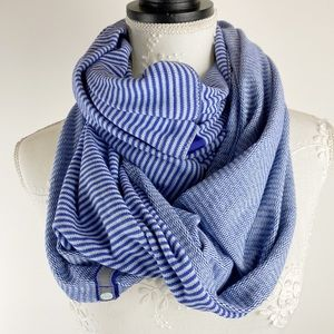 Lululemon Ribbed Vinyasa Scarf Striped Purple Blue